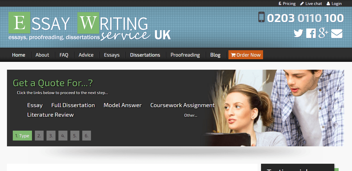 Essay writing service in the uk