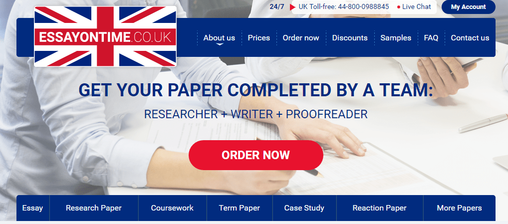 uk best essay review This uk best essays service has both price cuts for newcomers and loyalty program for your first order with them, you can get 20% off using coupon code from the website then you start to participate in a loyalty program and able to get 5%, 10 %, and 15 % lifetime discounts.